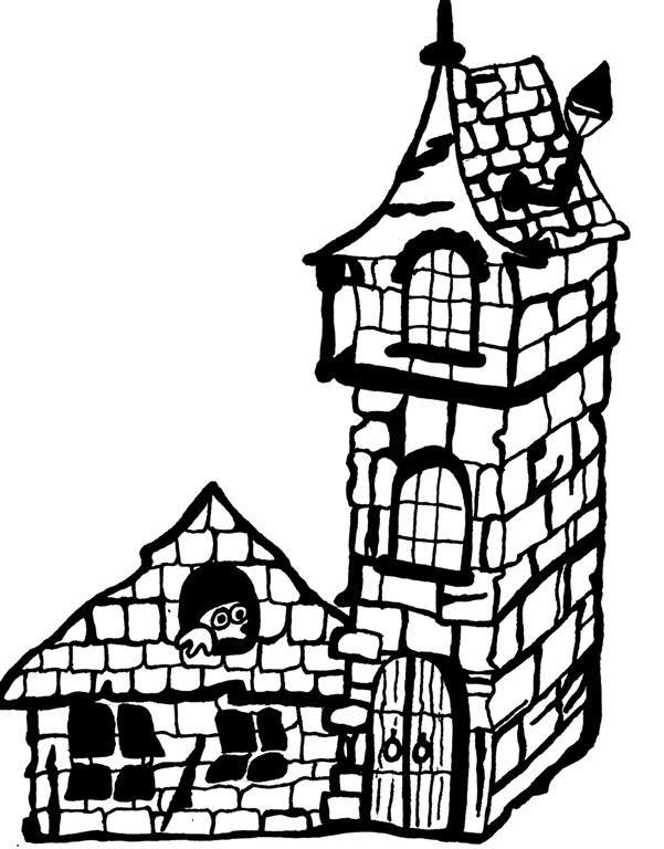 Ballons halloween dessin de maison hantee - Dessin de maison hantee ...