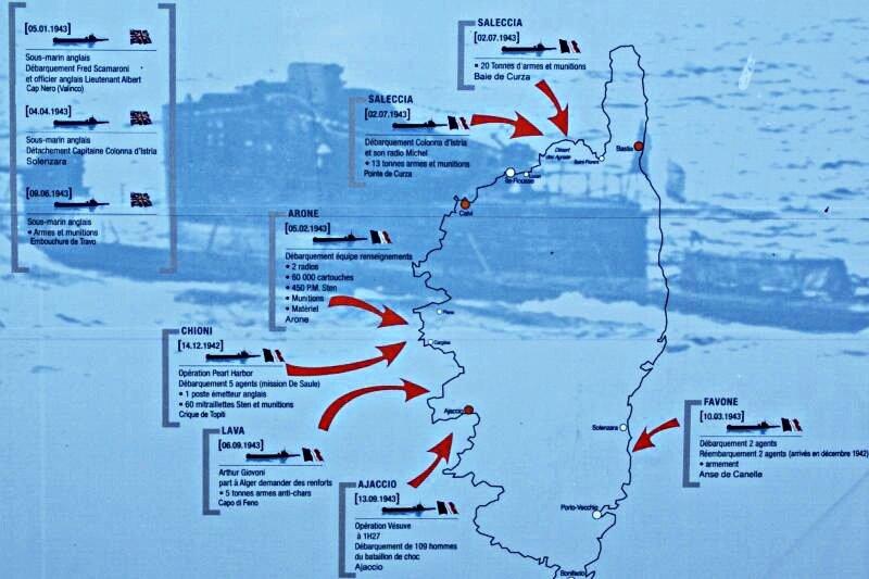 Carte action sous marin