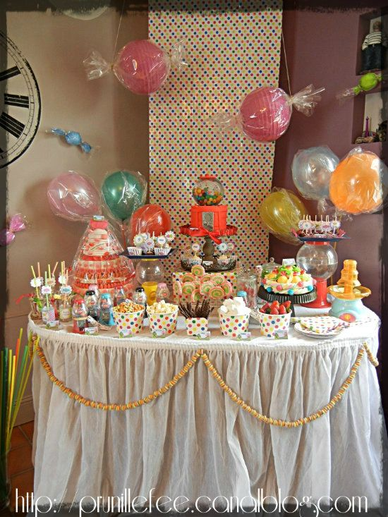 candyland sweet table prunille fait son show
