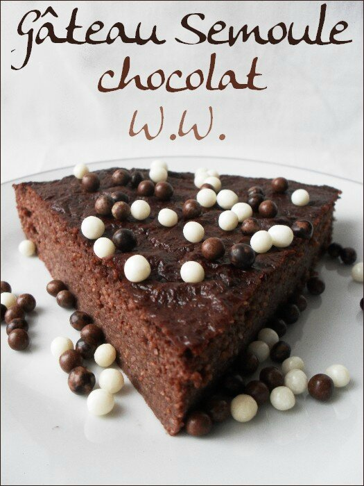 gateau semoule au chocolat ww weight watchers 1bis