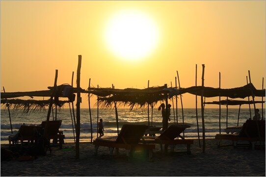 Sunset beach in GOA (part 1)