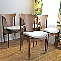 Lot de 4 chaises vintage design scandinave