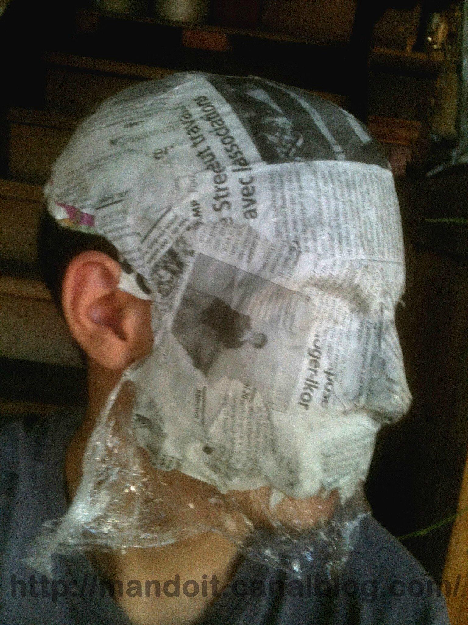 Masque de papier mach non termin man do it - Masque papier mache ...