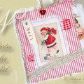 Carte textile Noël...