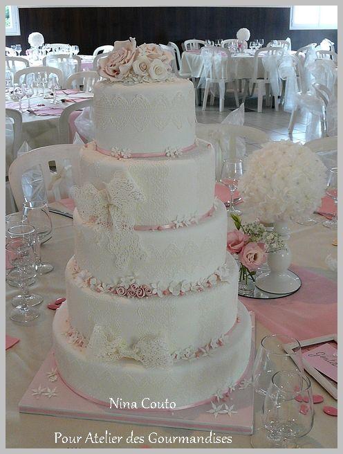 gateau de mariage rose et blanc ~ meilleure source d'inspiration