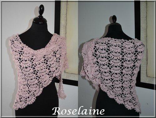 Roselaine058 châle rose