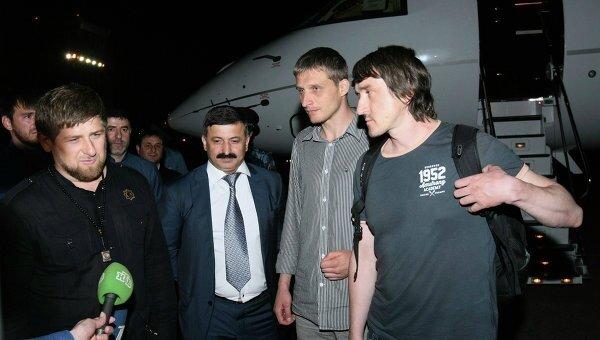 oleg sidiakine et marat saïtchenko lors de leur libération