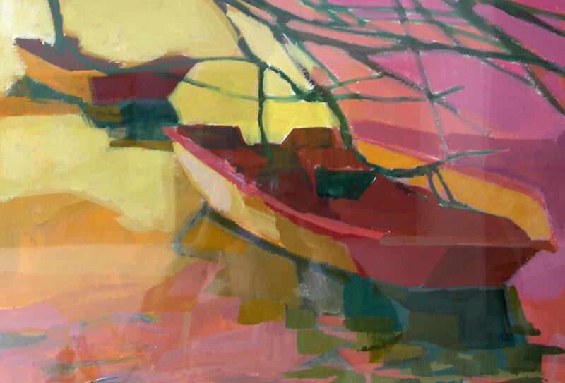 2004-La barque 1 -acrylique 48x55cm