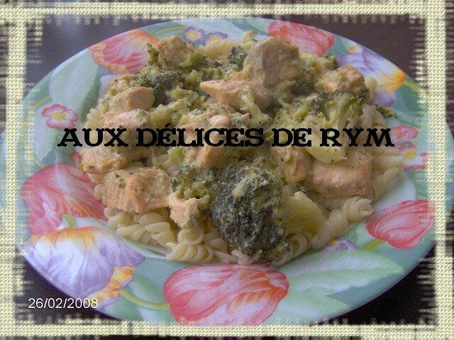 Mes pâtes au saumon et aux brocolis
