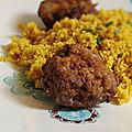 Boulettes de viande au citron et au massale