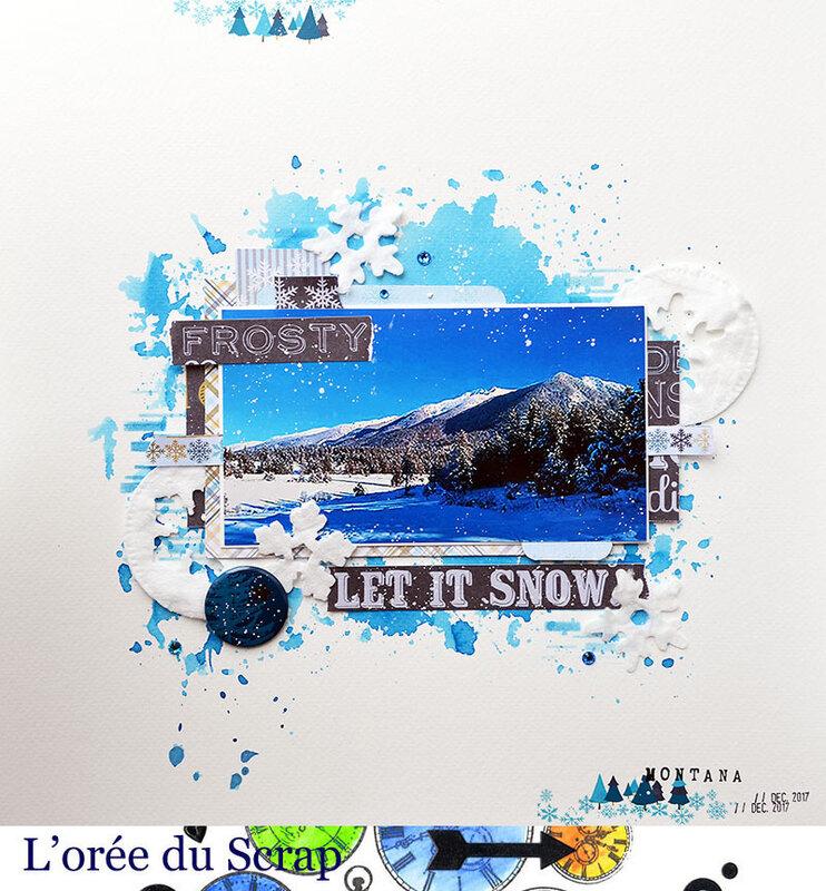 blogorel passion scrapbooking neige