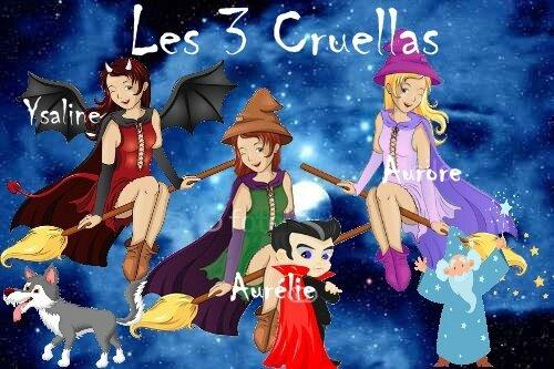 les trois Cruellas