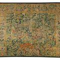 Tapisserie, laine et soie, flandre, xvième siècle, chasse à l'ours