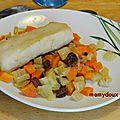 Cabillaud aux fenouils et aux carottes