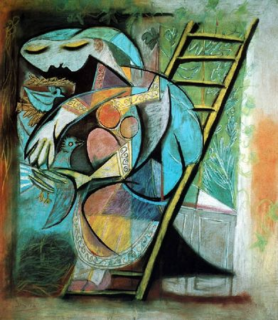 picasso dame aux pigeons