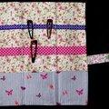 pochette à barrettes romantique fleurs et papillons - intérieur
