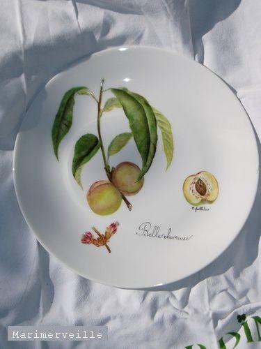 Assiette décor belle Chevreuse