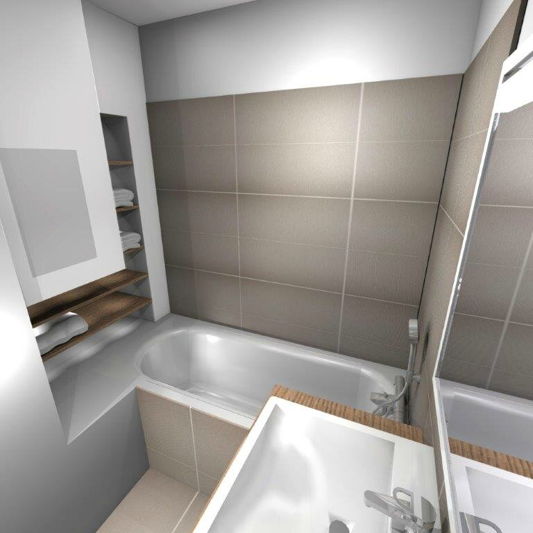 Am nagement salle de bain stinside architecture d 39 int rieur for Amenagement salle de bain 5m2