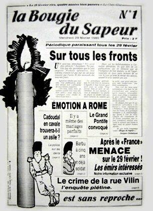 Journal La Bougie du Sapeur n°1 1980 JM