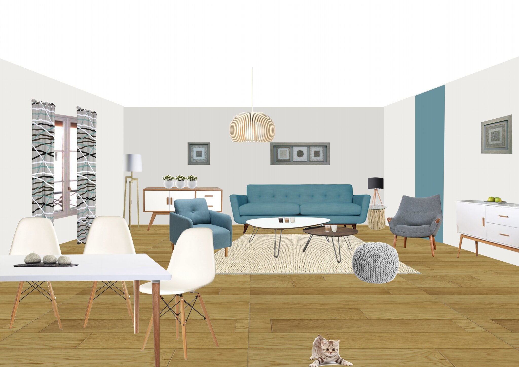 Perspective sous photoshop style scandinave so d co for Deco interieur nordique