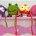 adorables petits bonnets crochetés