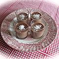 Verrines panna cotta chocolat coco