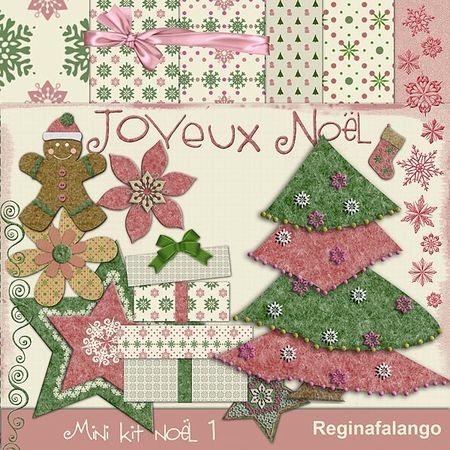 Free scrapbook christmas kit from Regina Falango