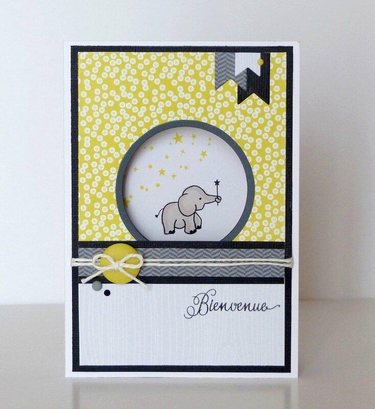 Carte naissance elephant gris noir jaune (1)