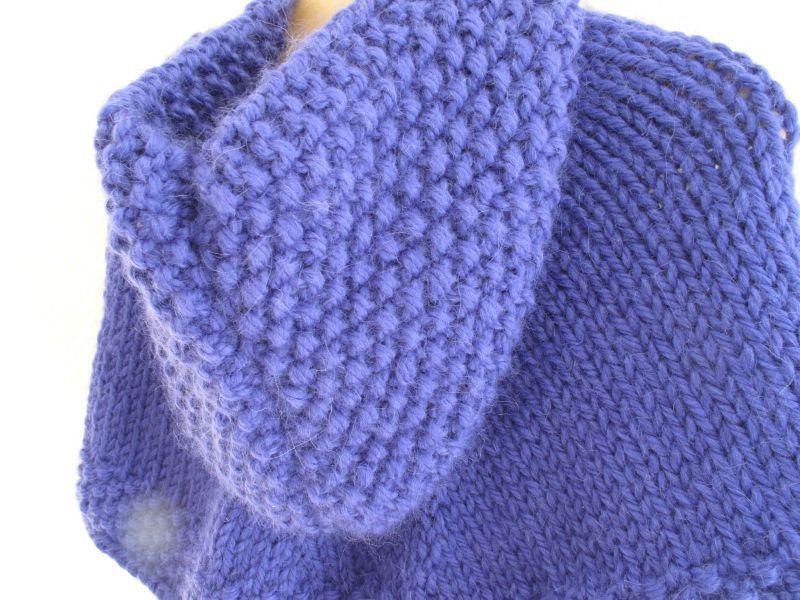 Poncho tricoter - Apprendre a tricoter gratuitement ...
