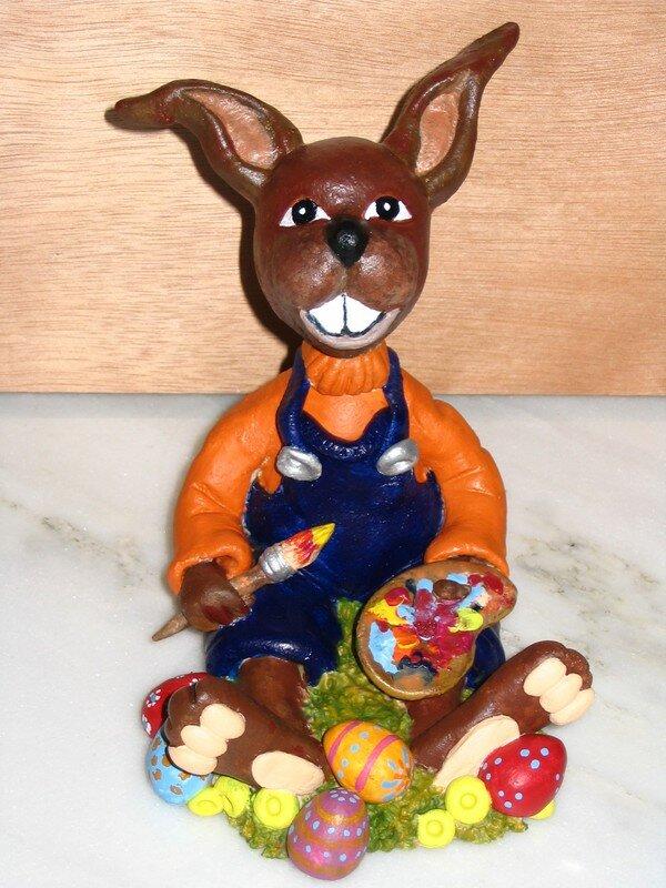 Lapin de paques ou pate a sel le blog de prisess - Patte de lapin peinture ...