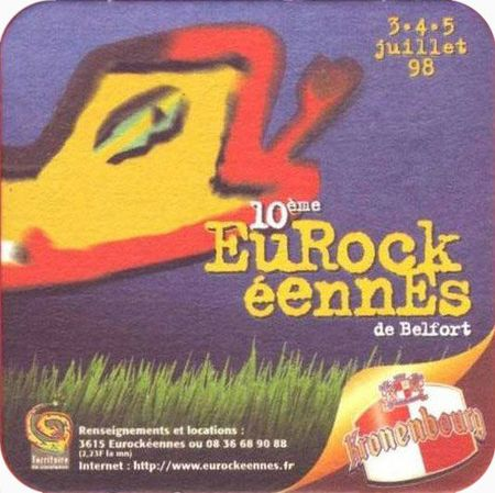 Sous-bock Eurokéennes 1998