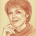 Anny Duperey - portrait aux 3 crayons sur papier bis 24x30 cm