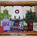 Mini Vitrine Noël au coin du feu 16