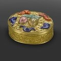 A very fine and rare gilt bronze oval snuff box, qianlong, circa 1740-1770