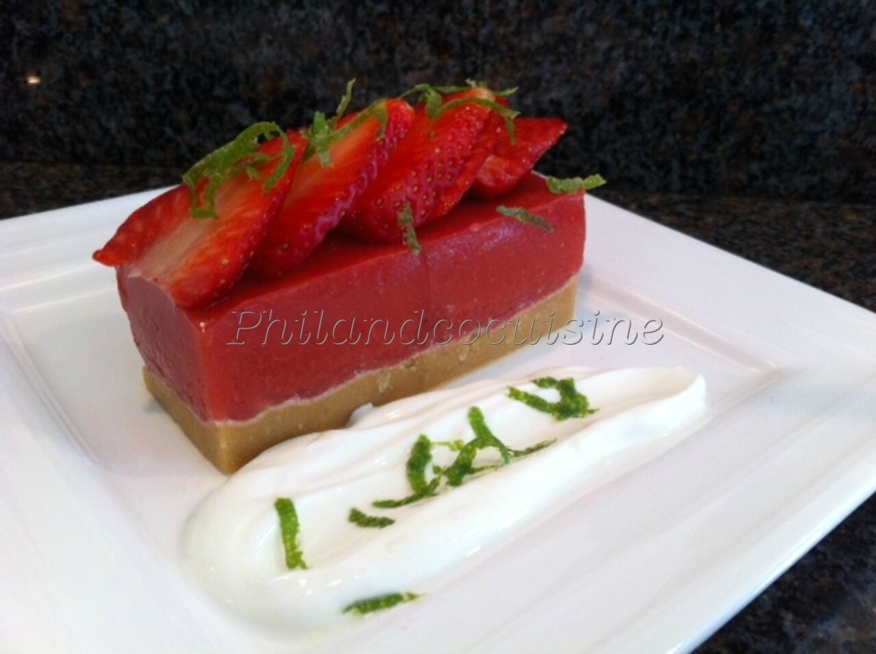 Jelly-cake aux fraises