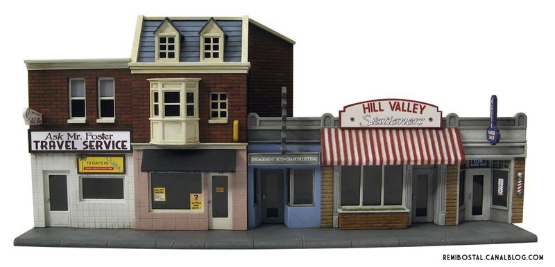 Hill Valley main street back to the future bttf heroclix remi bostal scenery miniature (5)