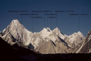 Gasherbrum faces ouest