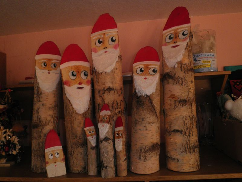 P res noel cr ativie - Pere noel en bois ...