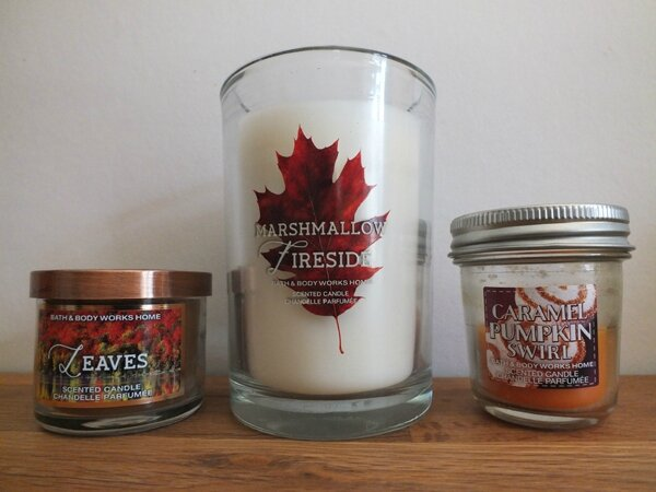 6 Bougies Bath&Body Works Leaves Caramel Pumpkin Swirl Marshmallow Fireside