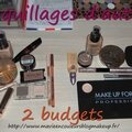 2 maquillages d'automne,2 budgets.