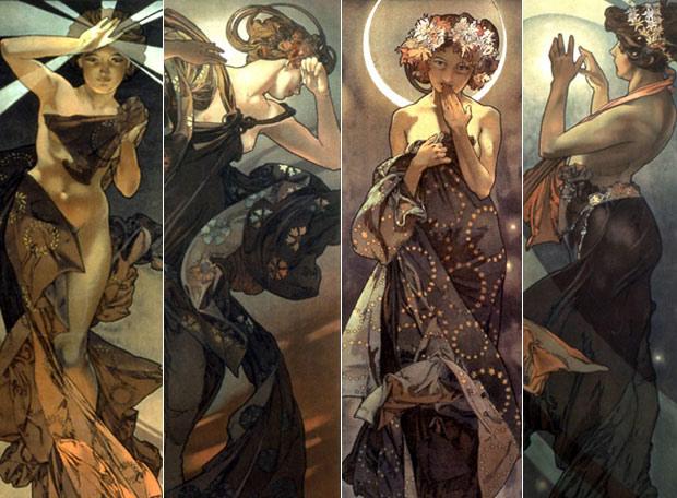 Alphonse Mucha - The Moon and the Stars (series)