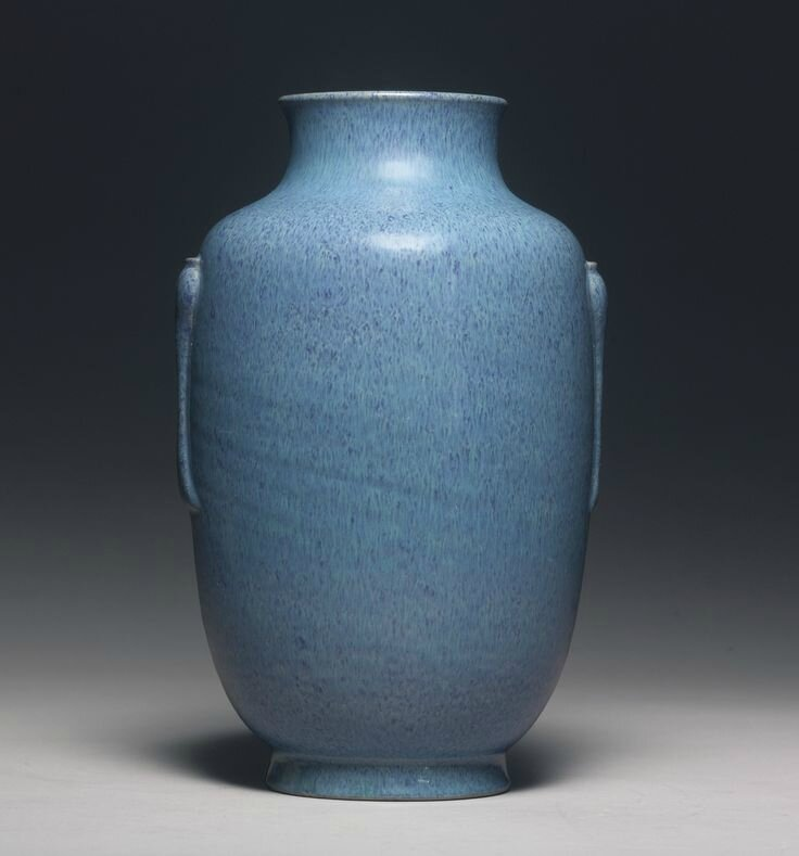 A robins-egg-glazed 'Lantern' vase, Daoguang seal mark and period1