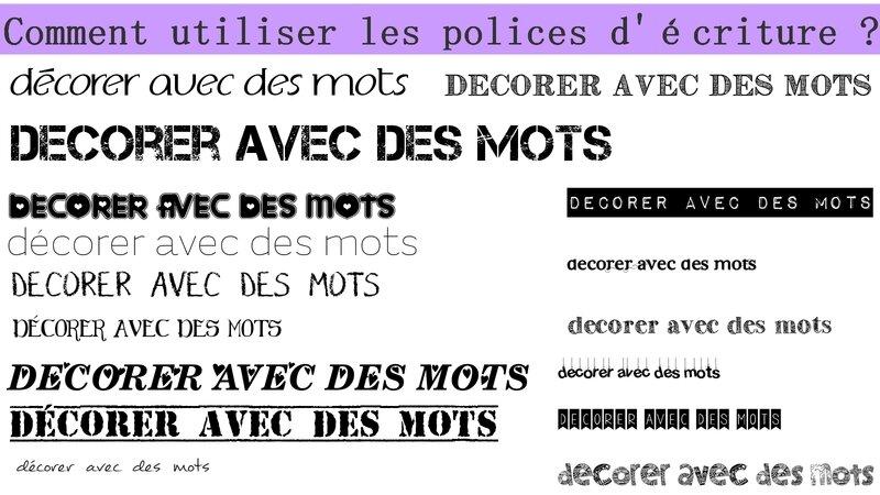 Favori DIY Polices d'écriture gratuite pour décorer - Stéphanie bricole QQ99