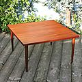 Table basse design scandinave des années 70