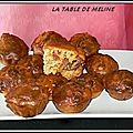 Bouchees de chorizo, olives, noisettes grillees