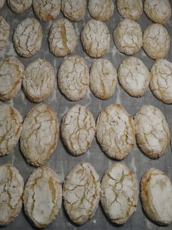 RICCIARELLI , Biscuits Italiens ( aux amandes ) 163