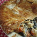 Tourte au poulet et légumes (chicken pie)