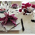 Table orchidées fuchsias....