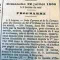 Courses de bergerac, hippodrome de la madeleine le 19 juillet 1908 !!