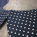 Col BERYL en coton noir à pois blancs - taille 54 (1)